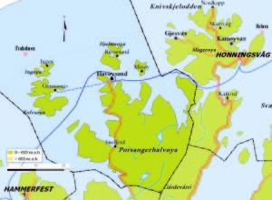 Måsøy kommunekart